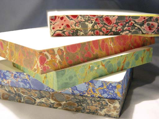 detailed image about product Hand marbleized edges journals BRL-004